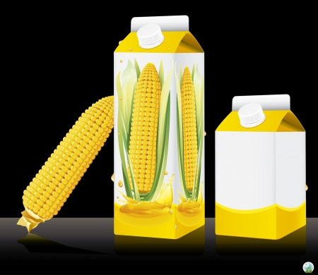 maize: Blank milk or juice pack illustration