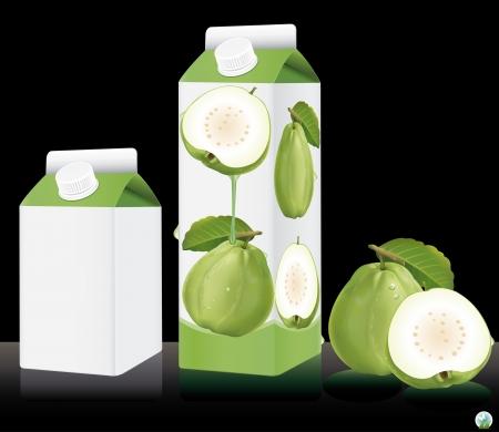 Blank milk or juice pack illustration Stock Vector - 21886766