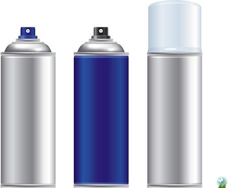 verfblik: Blank aluminium spray kan op een witte achtergrond, Aerosol Spray Can, Metal Bottle