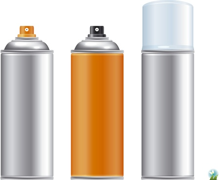 paint tin: Blank aluminum spray can isolated on white background, Aerosol Spray Can , Metal Bottle