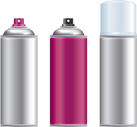 Blank aluminum spray can isolated on white background, Aerosol Spray Can , Metal Bottle Stock Vector - 21886788