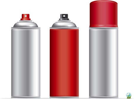 hairspray: Blank aluminum spray can isolated on white background, Aerosol Spray Can , Metal Bottle
