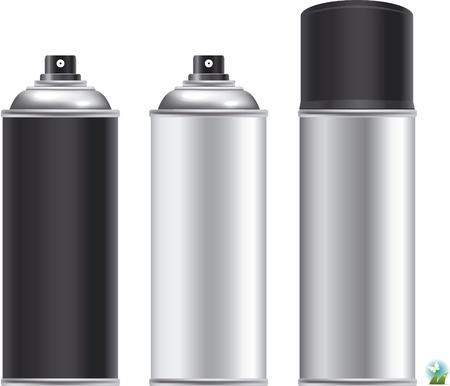 hairspray: Aerosol de aluminio en blanco puede aislado sobre fondo blanco, aerosol de aerosol, botella del metal