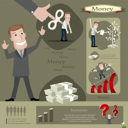 strive: businessman infographics  Illustration