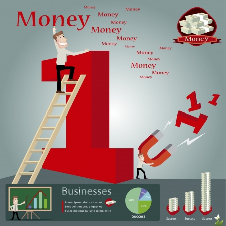 millionaire: Business infographics illustration