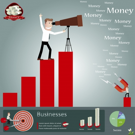 Business infographics illustration Vector