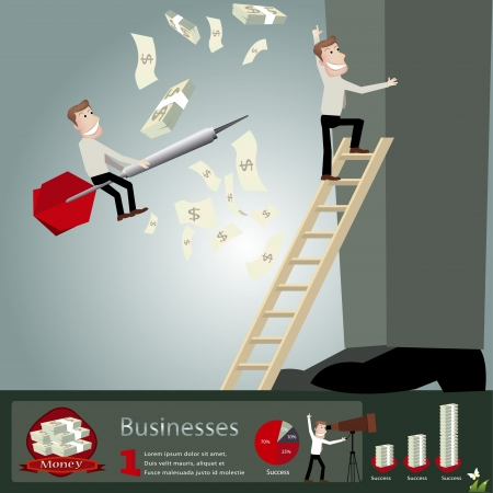 strong magnetic field: Business infographics illustration