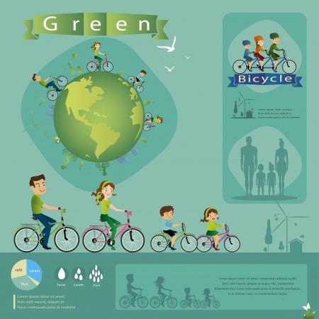 bicycle info graphics  Illustration