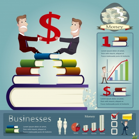 millionaire: Business infographics vector illustration Illustration