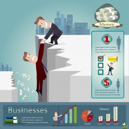 bank book: Business infographics vector illustration Illustration