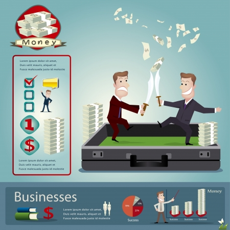 employment issues: businessman infographics