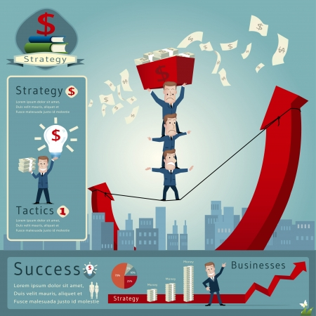 Business man infographics vector illustration Vector
