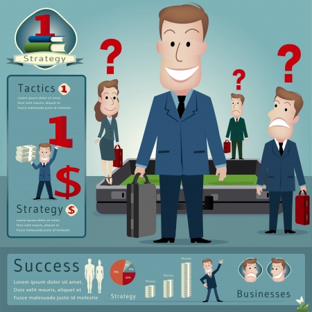 Businessman infographics vector illustration Vector