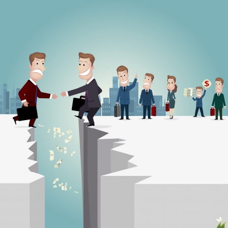 office team: Businessman  vector illustration