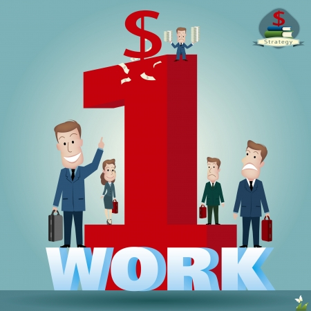Businessman   vector illustration Stock Vector - 22550658