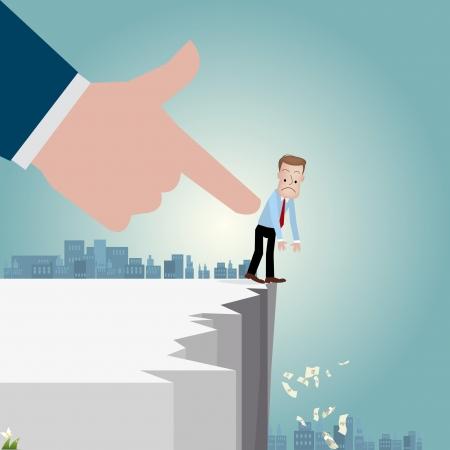 stratagem: Businessman   vector illustration Illustration