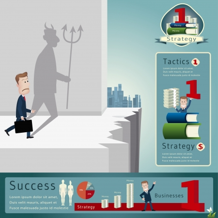 Businessman infographics  vector illustration Vector