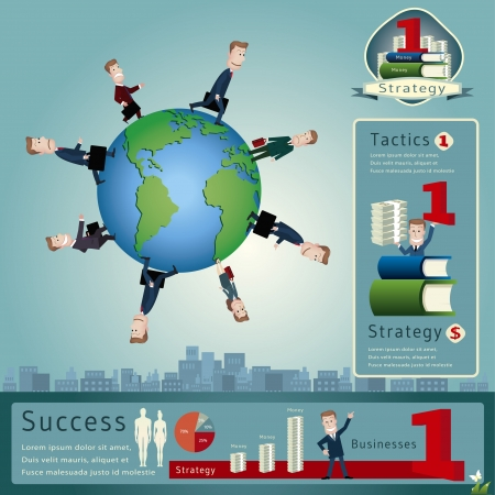 stratagem: Businessman infographics  vector illustration