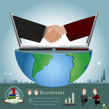 stratagem: businessman infographics vector illustration