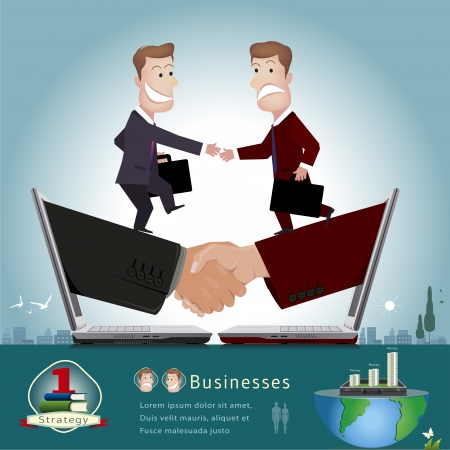 manager cartoon: businessman infographics vector illustration