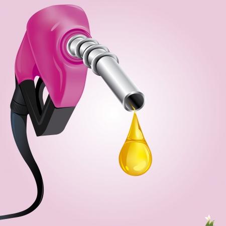 Gasoline Fuel Nozzle giving a drop