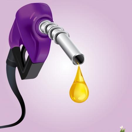 gas nozzle: Gasoline Fuel Nozzle giving a drop