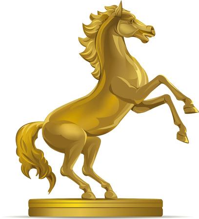 golden horse - Illustration