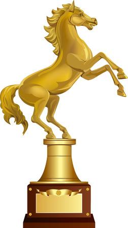 Golden Horse Award Stock Vector - 25147763