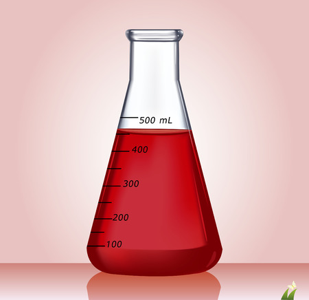 Test-tube with red liquid - Illustration Vector