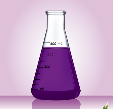 Test-tube with violet liquid - Illustration Vector