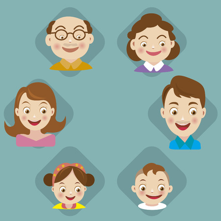 Set of family icons vector Vector