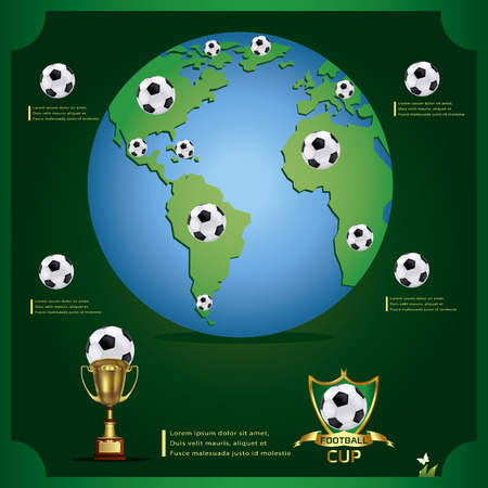 Vector illustration of world football Vector