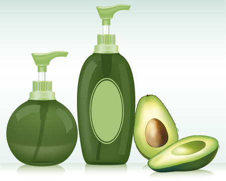 bath treatment: Gel, Foam Or Liquid Soap  Pump Bottle   Ready For Your Design  Product Packing Vector illustration