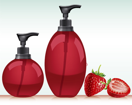 Gel, Foam Or Liquid Soap  Pump Bottle   Ready For Your Design  Product Packing Vector illustration  Vector