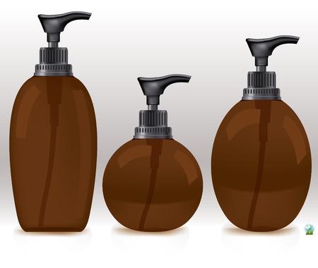 intimate: Blank packaging - bottles, cosmetics Illustration