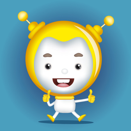 molest: Cartoon Character Cute Robot.vector