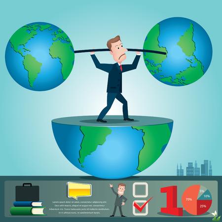 Businessman infographics. vector illustration