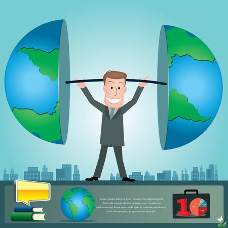 stratagem: Businessman infographics. vector illustration