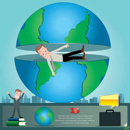 stratagem: Businessman infographics. vector illustration