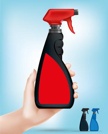 manos limpias: Spray - Ilustración Vectores