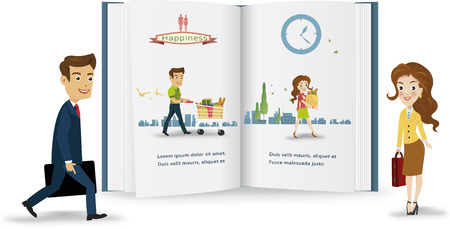 Business peple infographic.vector illustration Vector