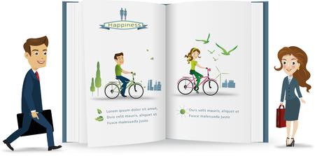 Business peple infographic.vector illustration