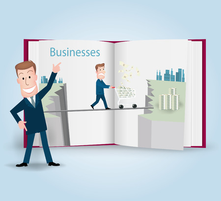 stratagem: businessman.vector illustration