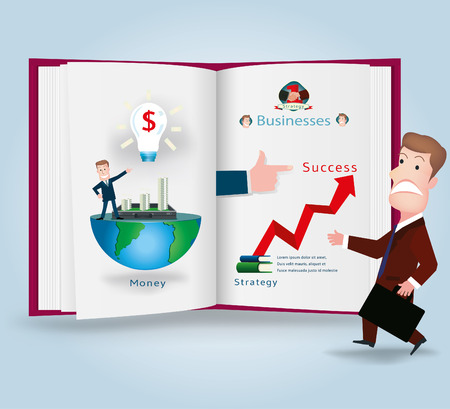 tactic: businessman.vector illustration