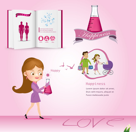 house wife: Family design over white book. vector illustration