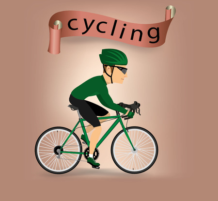 cycling helmet: bike infographics.vector Illustration