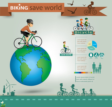 bicycle info graphics.vector