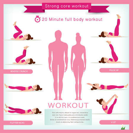 push up: Sport and fitness infographics. Home workout. Vector. Illustration