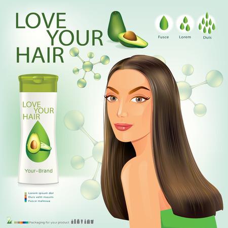 tinte cabello: Mujeres hermosas con estilos de vello facial.