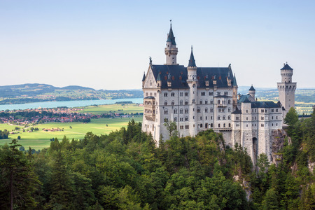 ludwig: Neuschwanstein castle in Bavaria, Germany  Editorial
